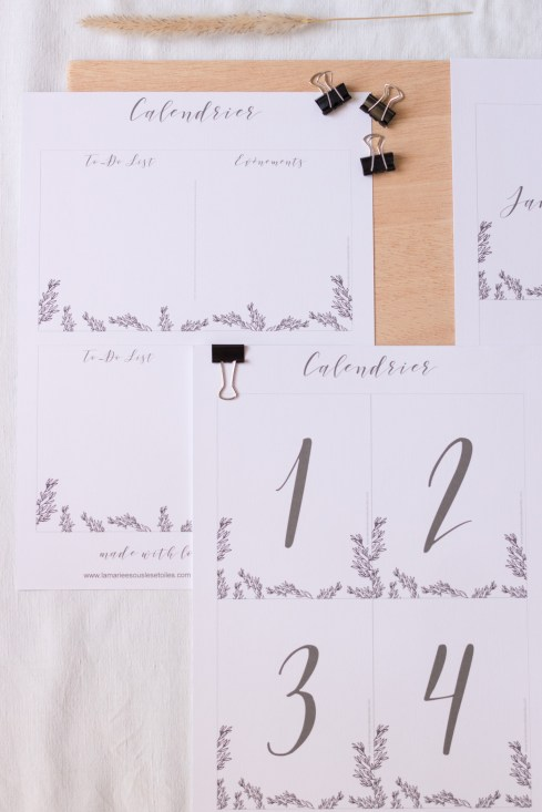 DiY Printable Calendrier DiY esprit kinfolk a imprimermade by La Mariee Sous Les Etoiles x Make My Wed-3