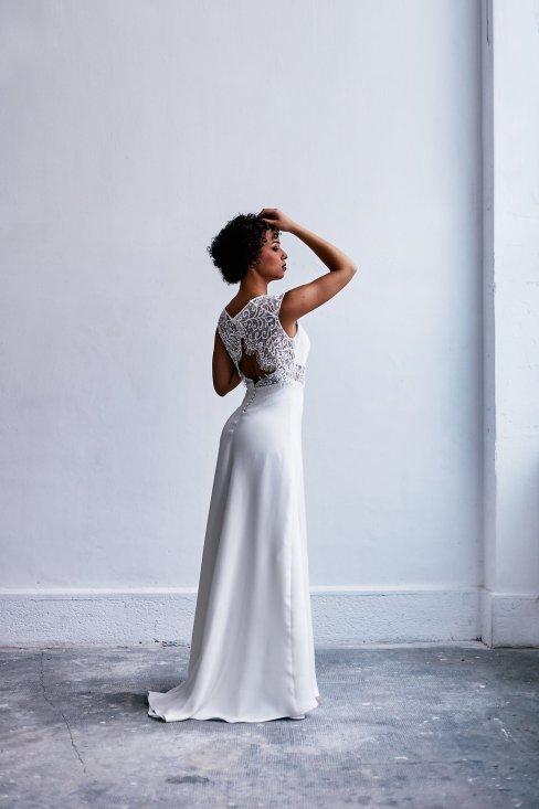 Caroline Quesnel Nouvelle Collection 2018 de robes de mariée_Credit NickyRasa