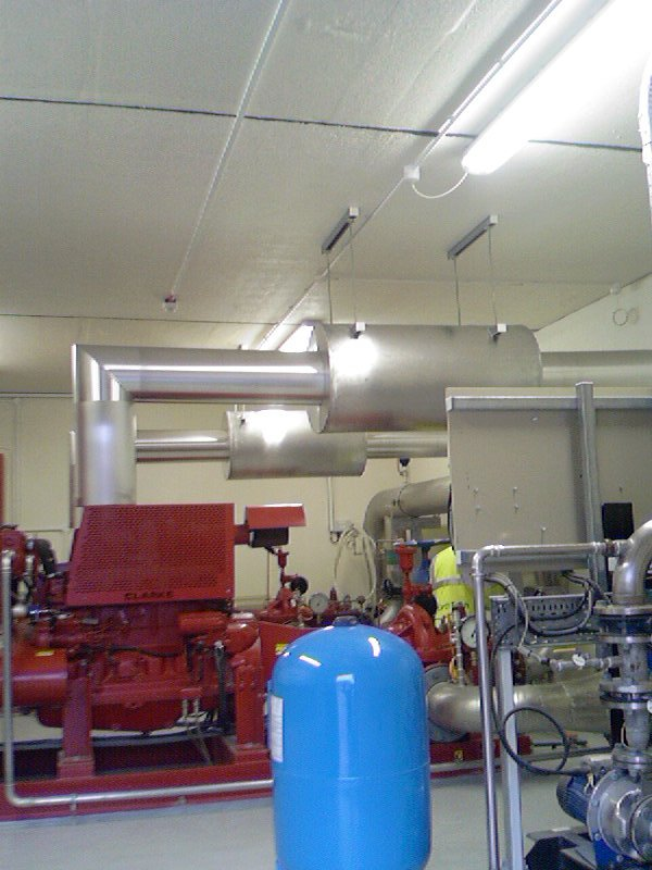 insulation exhaust system for