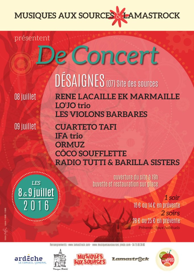 Afiiche De concert 2016