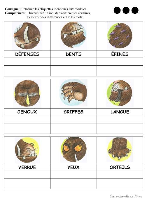 Discrimination visuelle corps