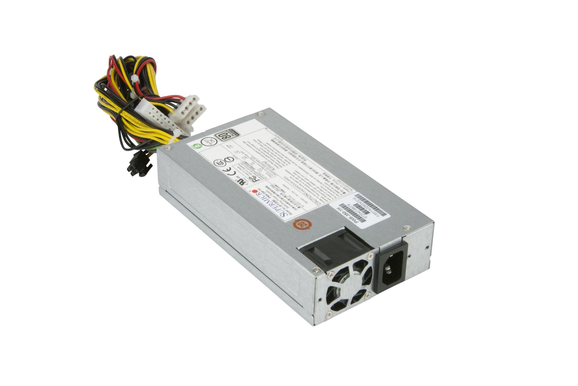 hight resolution of  supermicro 1u single ac dc 350w platinum level multiple output power supply 180mm