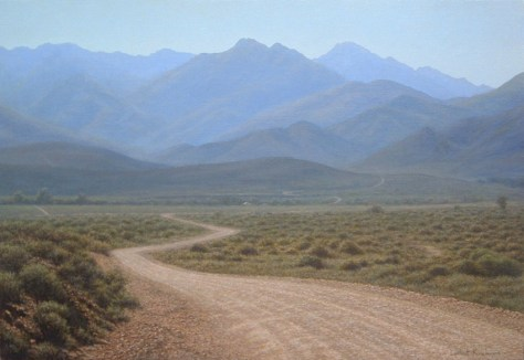 Winding Road, Karoo Oil on canvas