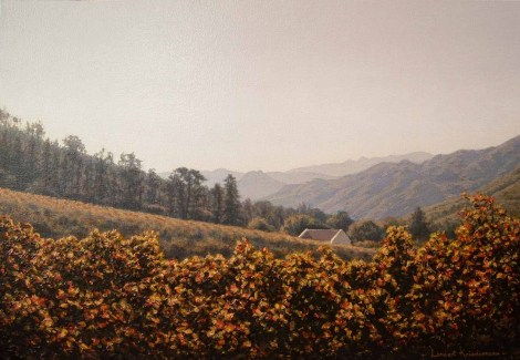 View from La Couronne Oil on canvas, 30 x 45 cm Available from:www.coetzeeartgalleries.co.za R9 000
