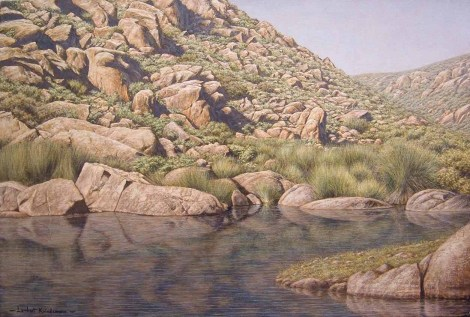 Rock Pool near Sutherland Oil on canvas, 50 x 75.4 Available from Masterart via this website