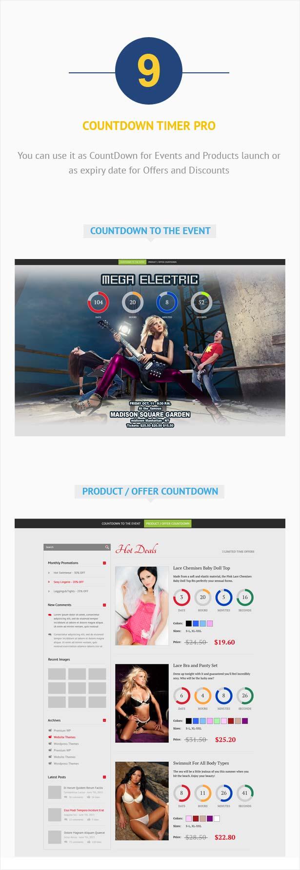 Visual Composer Addon – CountDown PRO