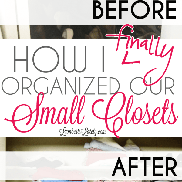 How We (Finally) Organized Our Small Bedroom Closets