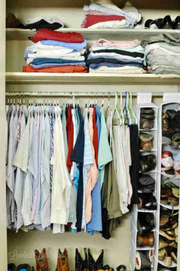 Small Closet Organization Tips and Tricks    Bedroom Organizing Hacks    Small  Space Ideas. How We  Finally  Organized Our Small Bedroom Closets   Lamberts Lately