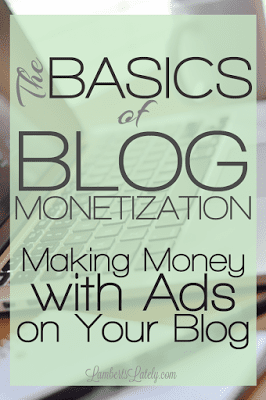 Great breakdown of how to make money with ads on your blog...an introduction to ad networks and using personal ads to monetize your site!