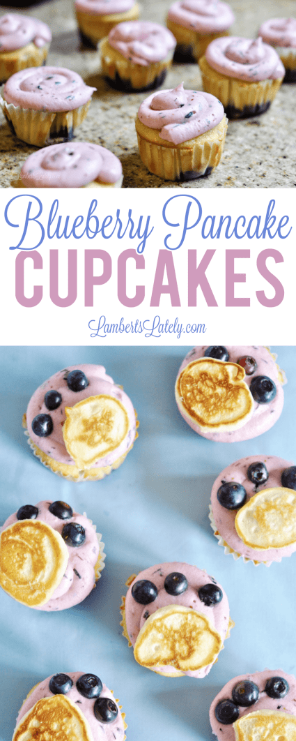 Blueberry Pancake Cupcakes || Easy Dessert Brunch Breakfast Idea || Fruity Muffins
