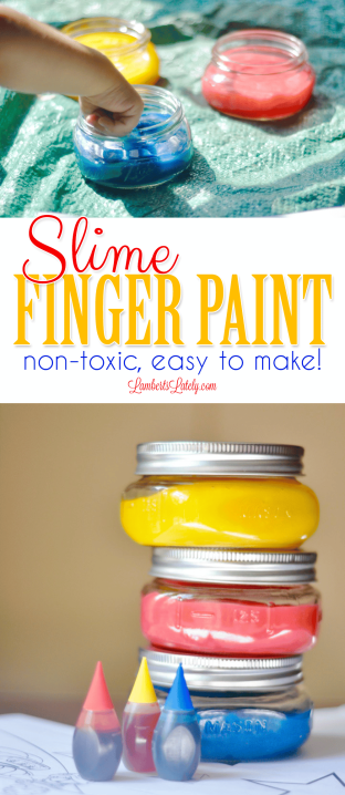 Slime Finger Paint is so easy to make and is non-toxic! This is a great DIY craft for babies, kids, or toddlers. Uses edible ingredients! This was made to celebrate Disney Junior FRiYAY and the newest Mickey and the Roadster Racers.