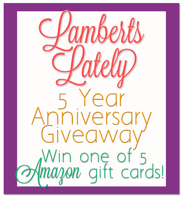 5 year anniversary giveaway win one of 5 amazon gift cards five readers in honor of our five year anniversary are going to win a 10 amazon gift card code no sponsors in this onejust my way of thanking you for negle Image collections