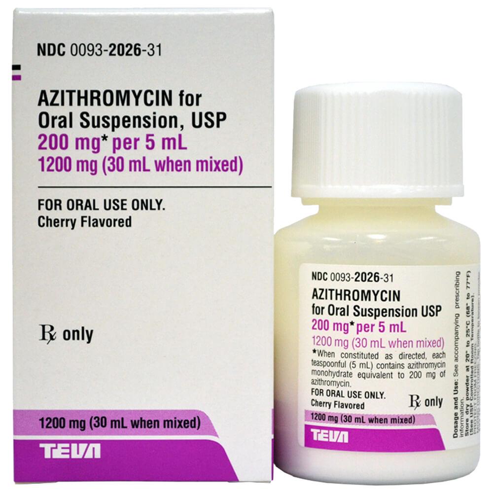 Azithromycin/Zithromax Rx Suspension