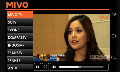 Aplikasi TV Online Mivo Android