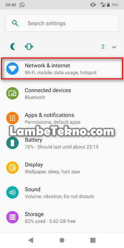 cara kunci jaringan 4g di Android