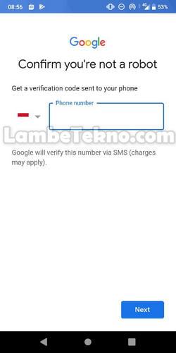 Membuat Akun Gmail Tanpa Nomor Telepon