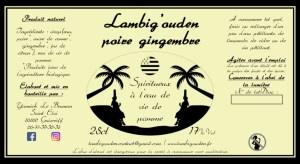 etiquette poire gingembre eau de vie 25cl