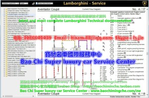 FS: full set Lambhini Workshop Manual Wiring diagram