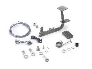 Lambretta Rear brake pedal kit, Grey rubber, Series 3, MB