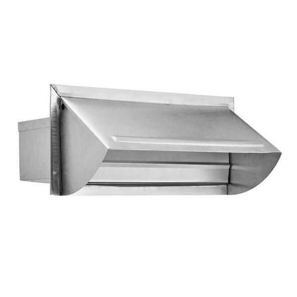 """Kitchen Exhaust Vent Wall Cap: 3 1/4"""" X 10"""" Aluminum Wall Cap > Lambro Industries, Inc"""