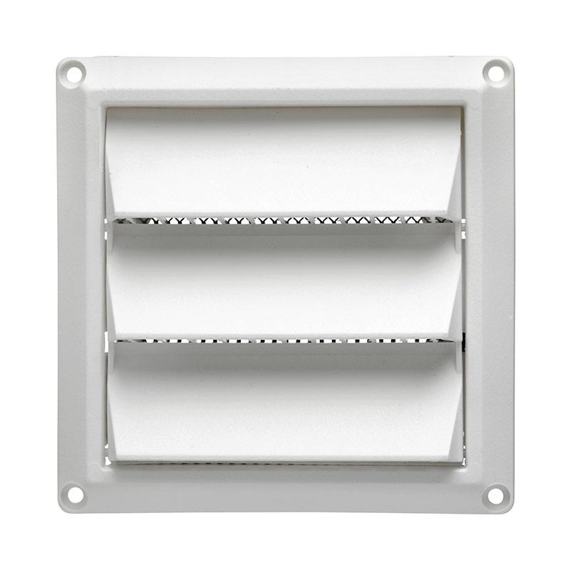 4 white plastic air intake louver vent