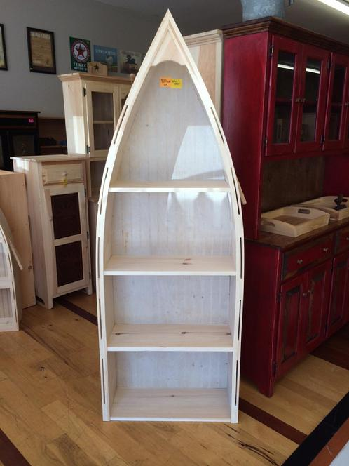 Boat Bookshelf  Lam Brothers Unfinished Furniture