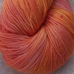 Superwash Sock Yarn - Coral Pansy