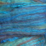 Merino/Silk Fiber - Blue Boston Fern