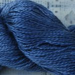 Hand-Dyed 100% Silk - Black-Blue Roan