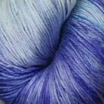 Hand-Dyed Silk/Merino -- Snowballs
