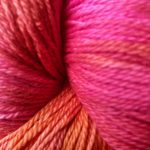 Hand-dyed Rainbow Prism  - Red Rose