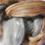 Hand-dyed Corriedale/Silk Fiber - Busy Bee Hive