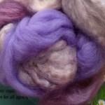 Hand-dyed Merino/Silk Fiber - Lavender Honey