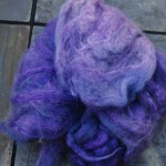 Hand-dyed Merino/Silk Fiber - Bee Balm