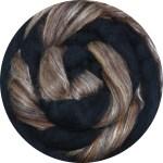 Hand-dyed Merino/Silk Fiber - Pine Cones