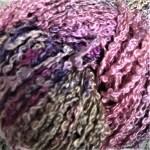 Hand-dyed 100% Silk Bouclé - Foxglove