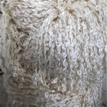 Hand-dyed 100% Silk Bouclé - Queen Anne's Lace