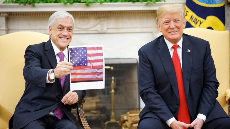Sebastián Piñera y Donald Trump (AFP)