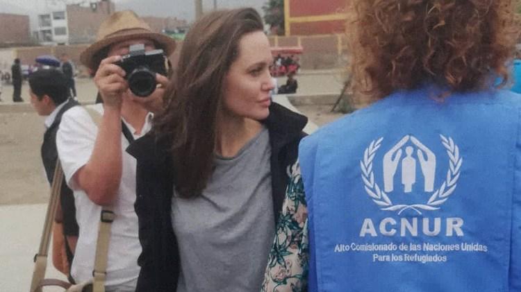 Angelina Jolie llegó este domingo a Lima (@rosmery_steph)