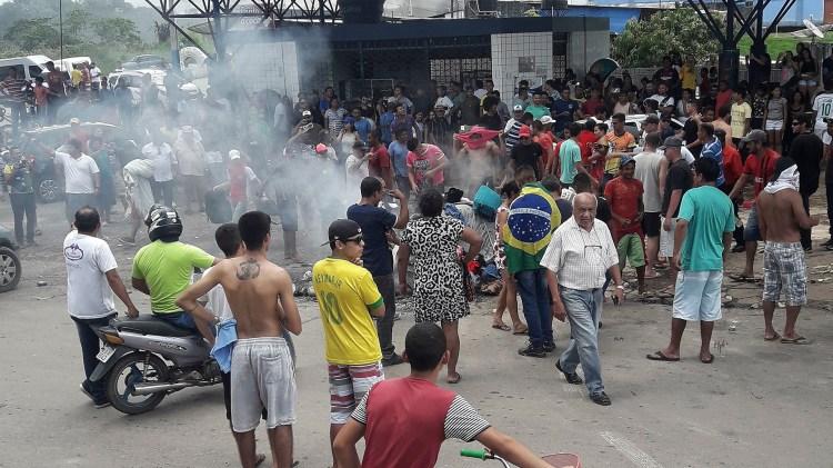 Momentos de tensión se vivieron meses semanas atrás en la localidad brasileña de Pacaraima, fronteriza con Venezuela (Reuters)