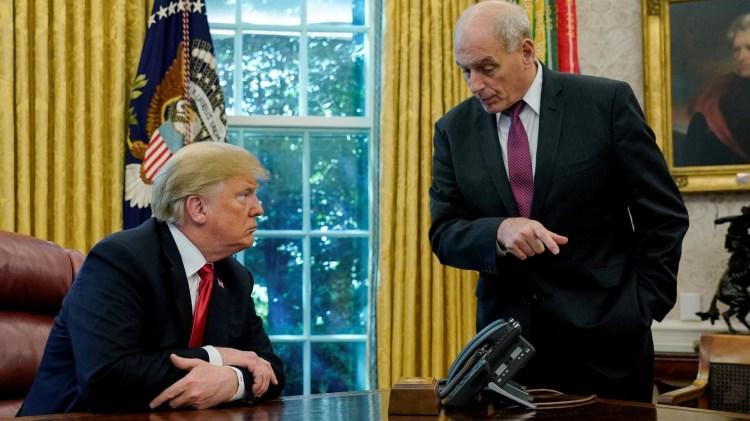 Donald Trump y John Kelly (Reuters)