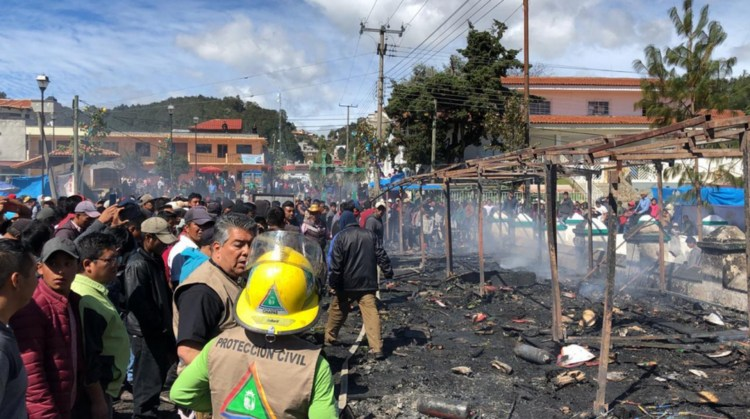 En el incidente no hubo ningún herido ni muertos (Foto: Twitter @pcivilchiapas)