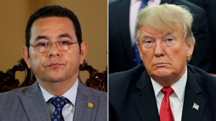 Jimmy Morales, Donald Trump