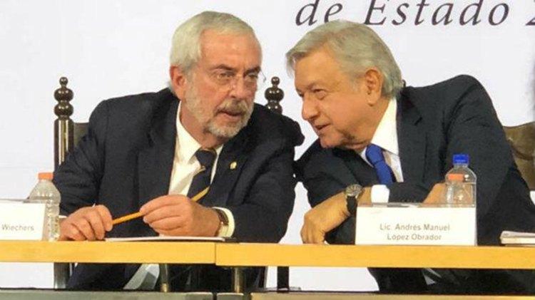 El rector de la UNAM, Enrique Graue, con Andrés Manuel Lopez Obrador (Foto: Especial)