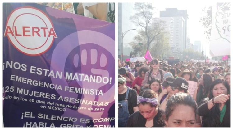 Miles de mujeres se manifestaron en contra de los feminicidios en la CDMX (Foto: Arantza Durand)
