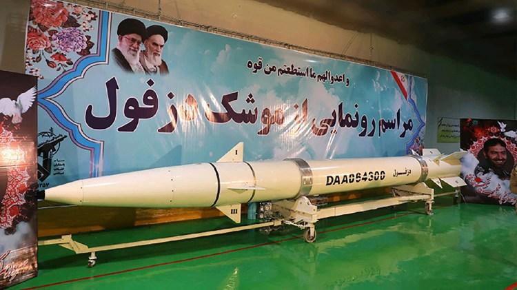Uno de los últimos misiles presentados por Irán (AFP)