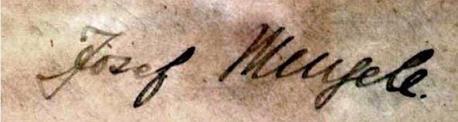 Firma di Joseph Mengele