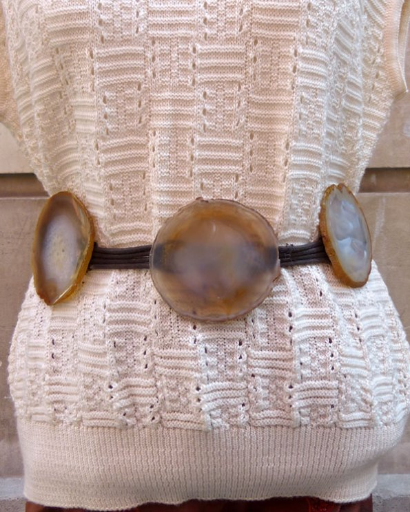 Cinturón con ágatas, estilo Boho-Chic