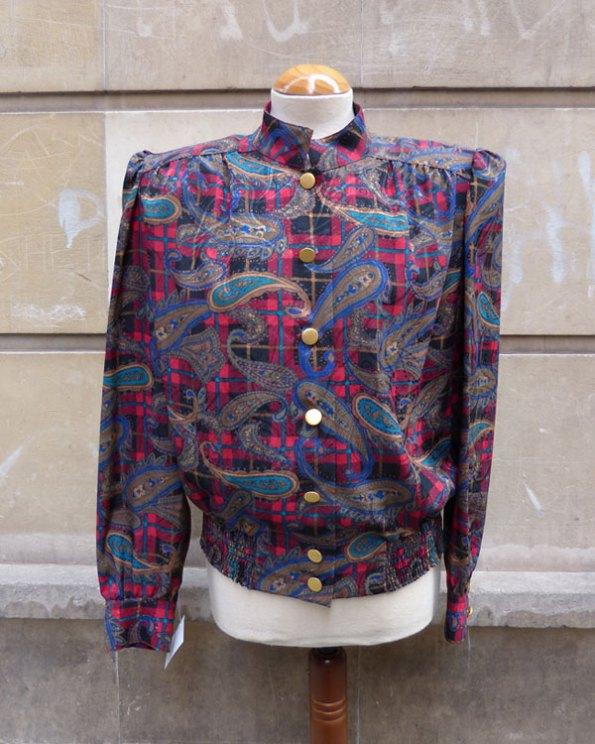 Blusa 80's de estampado Cashmere