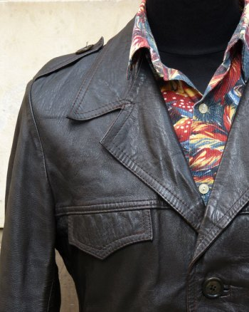 Classic 1970s Leather Jacket